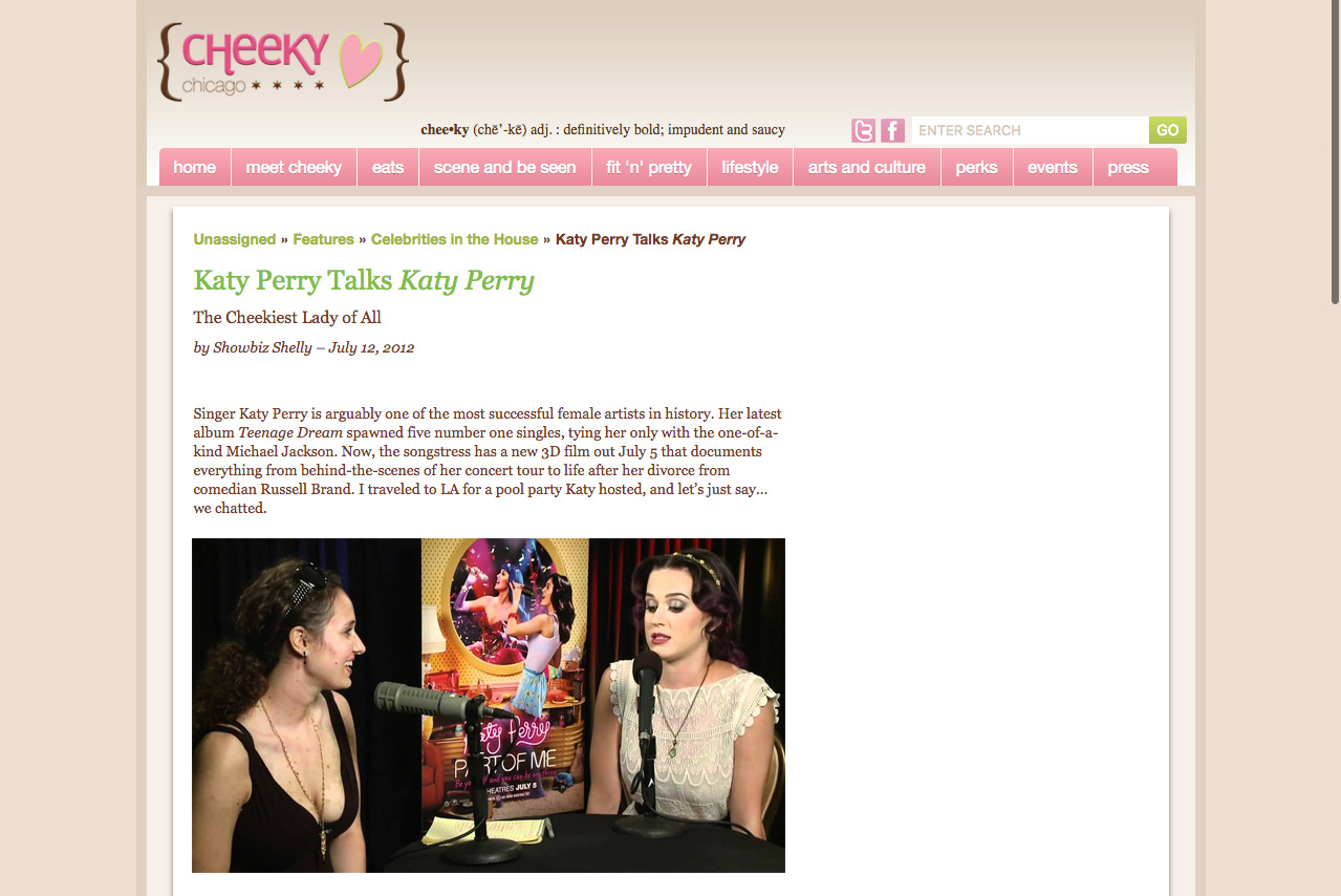 Cheeky Chicago Katy Perry Interview
