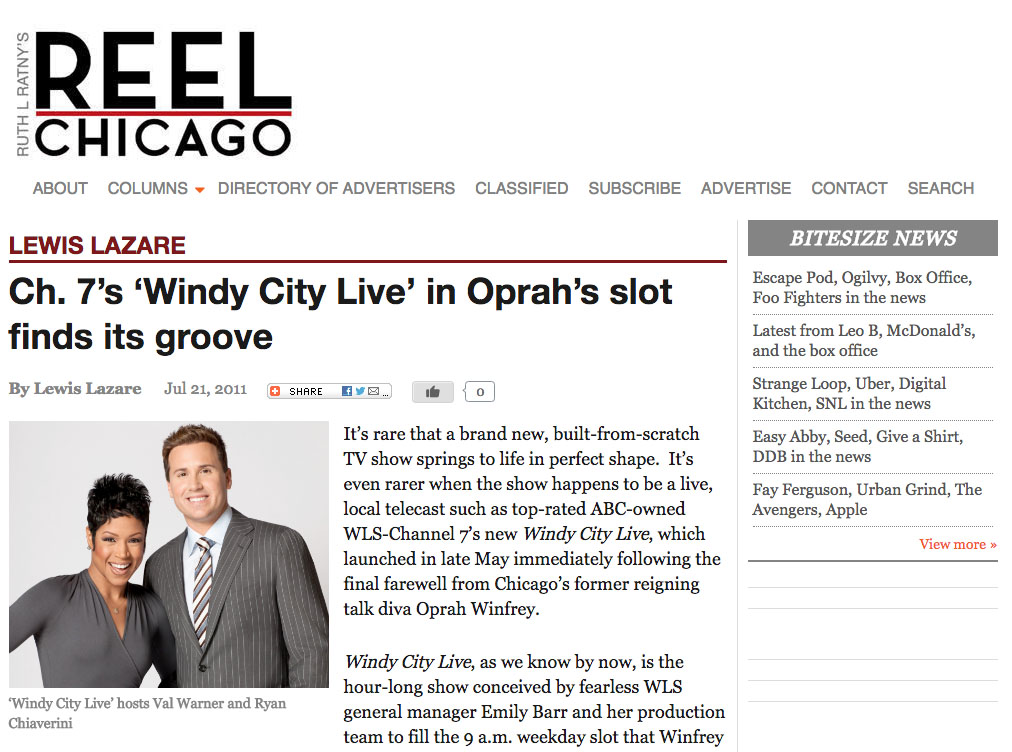 Mention in Reel Chicago