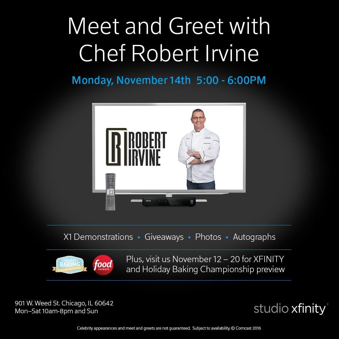 Showbizshelly showbiz shelly meet celebrity chef robert irvine today in chicago m4hsunfo