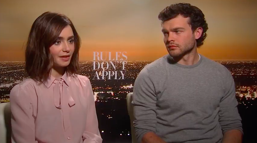 My Interview With Lily Collins and Alden Ehrenreich for 'Rules Don't Apply'