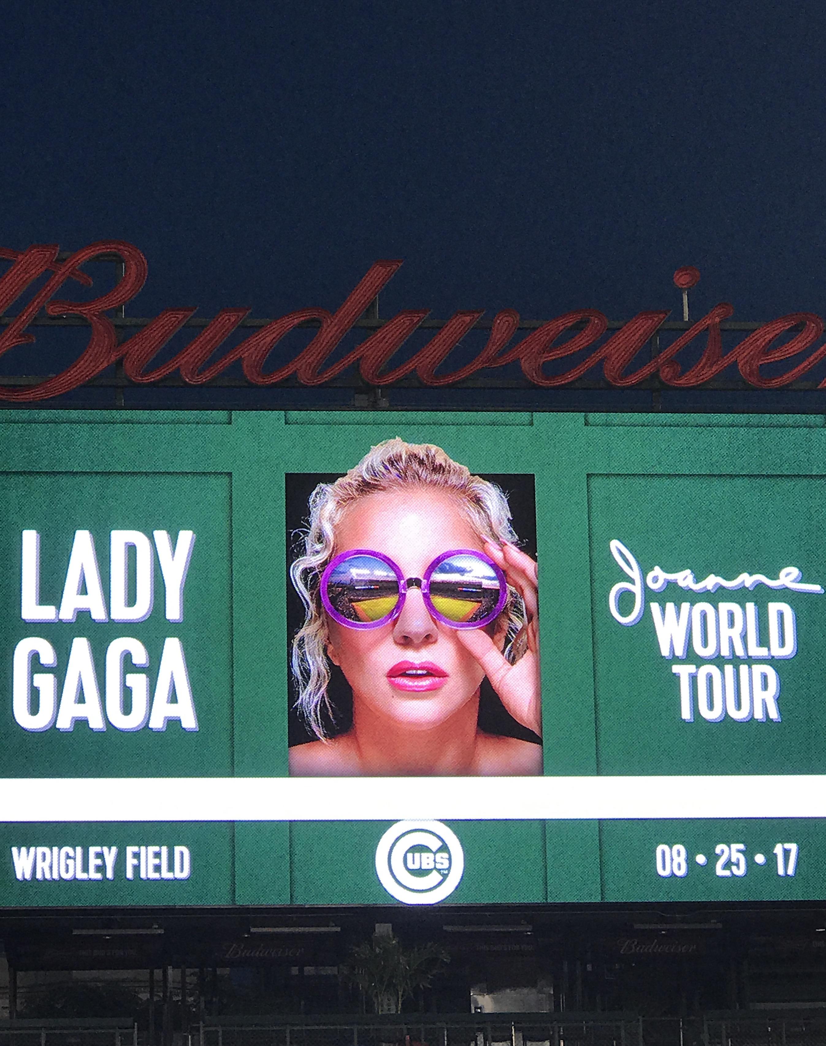 Lady Gaga at Wrigley Field