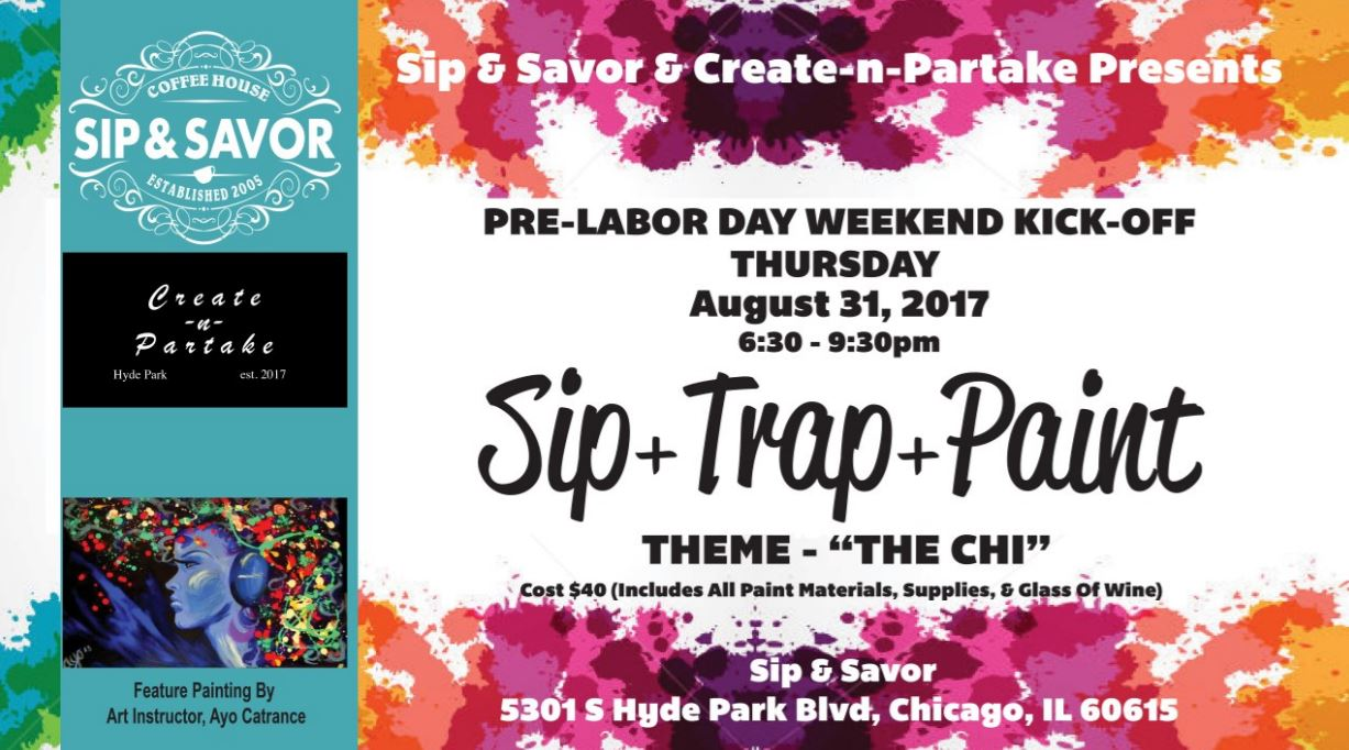 Sip, Trap + Paint with Create-n-Partake