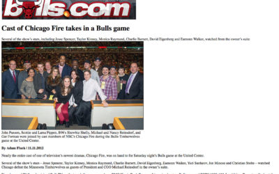"""Bulls Game With """"Chicago Fire"""" Cast"""