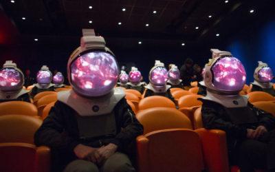 ONE STRANGE ROCK Space Projection Helmet Experience