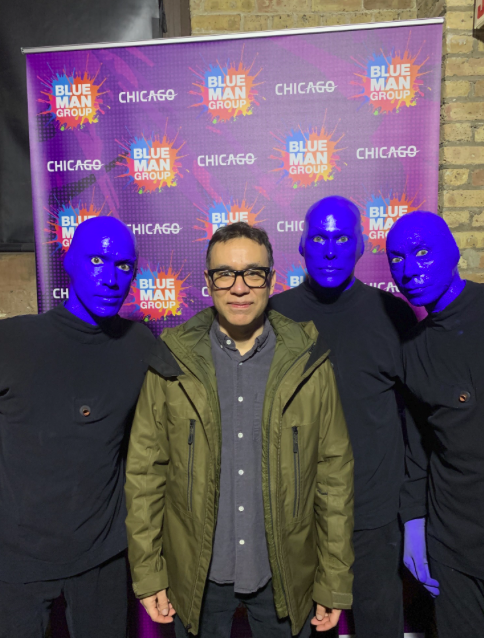 Celebrity Sighting: Fred Armisen With Blue Man Group Chicago Yesterday