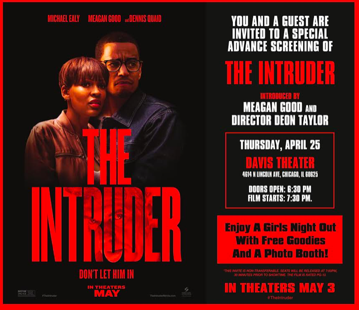 Join Me For a Special Screening of THE INTRUDER