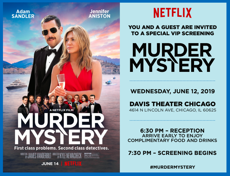 Join Me For a VIP Screening of MURDER MYSTERY