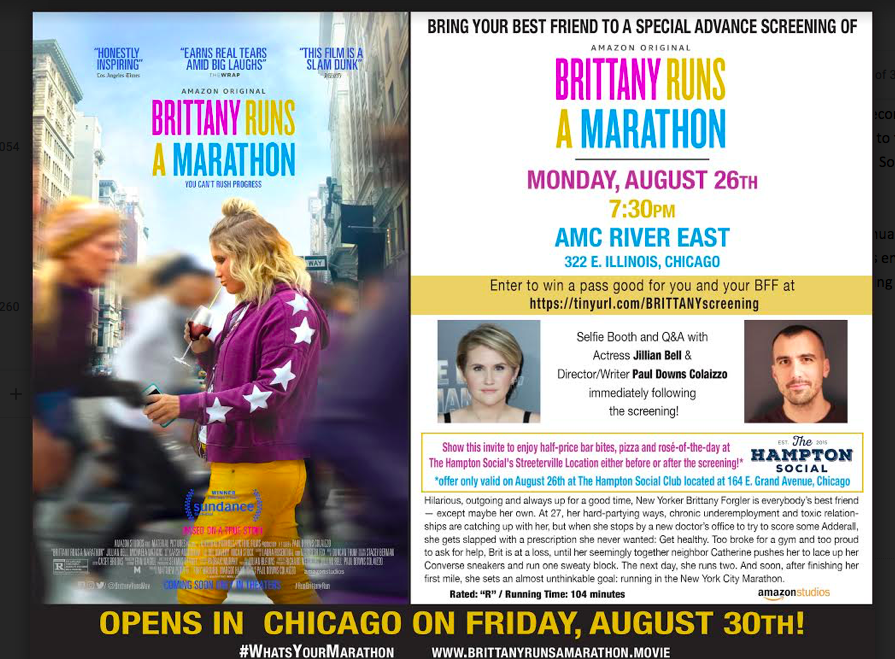 See a Special Screening of BRITTANY RUNS A MARATHON