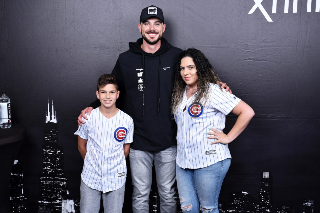 Cubs Player Kris Bryant at Xfinity Store in West Loop