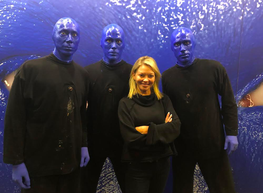 Empire Actress Amanda Detmer spotted at Blue Man Group