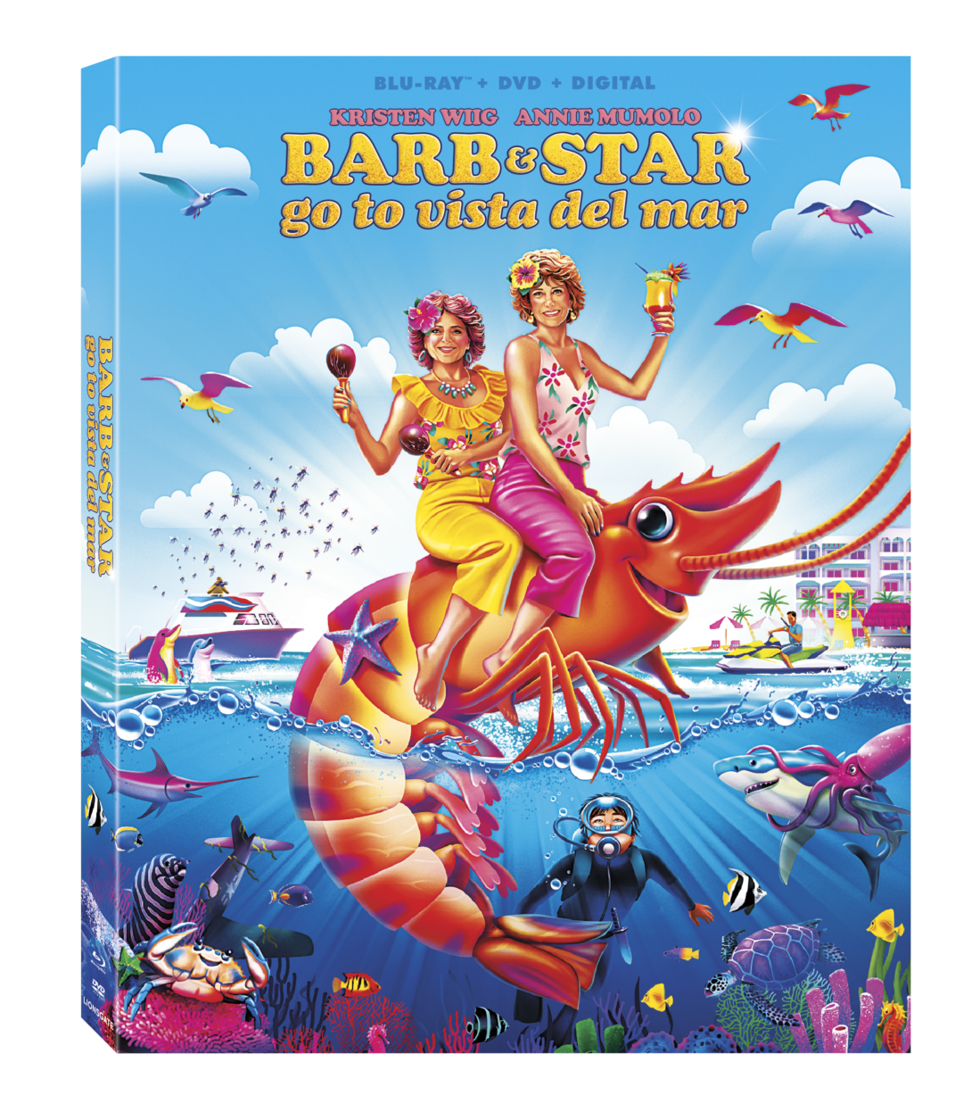 Get the Blu-ray/DVD/Digital Combo Pack of BARB & STAR GO TO VISTA DEL MAR